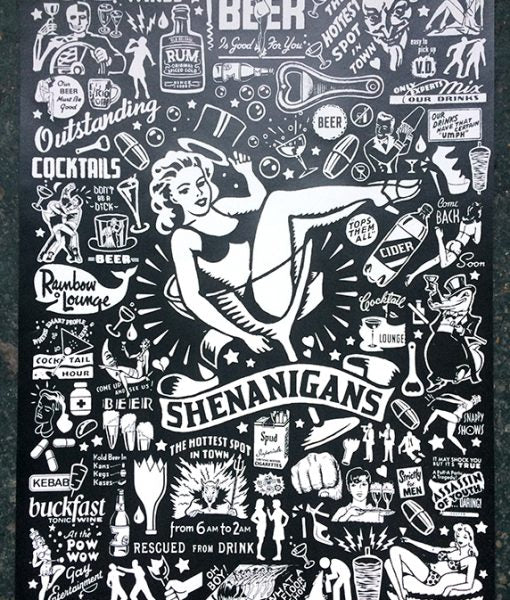 """Shenanigans"" screenprint"