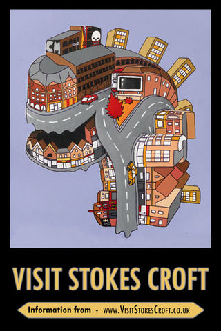 VISIT STOKES CROFT POSTER FEATURING ANDY COUNCIL