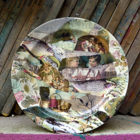 Large unique platter featuring work by Felix Braun