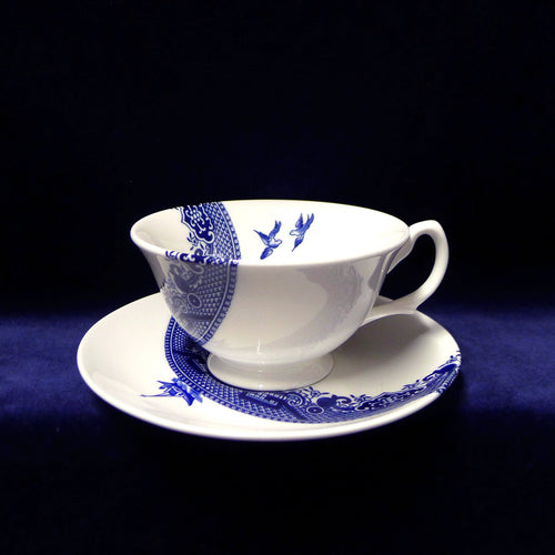Deconstructed Willow Pattern Teacup