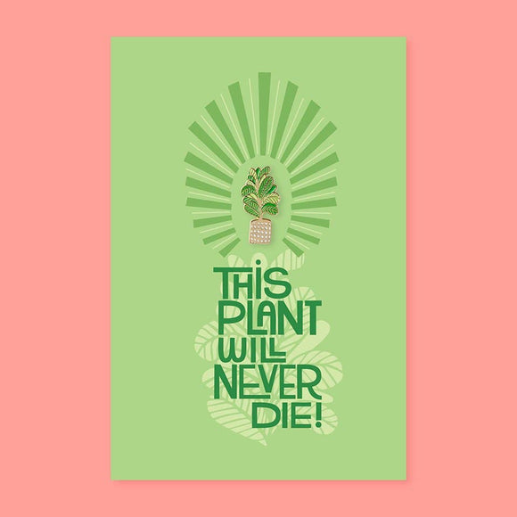 The Good Twin - Plant Pin + Post Card