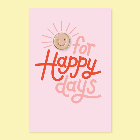 The Good Twin - Happy Day Pin + Post Card