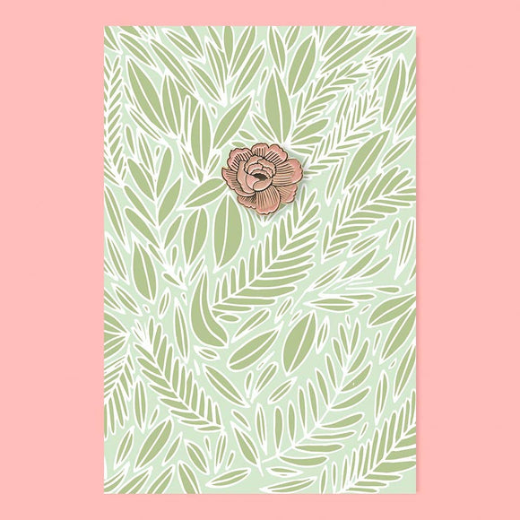 The Good Twin - Flower Pin + Post Card