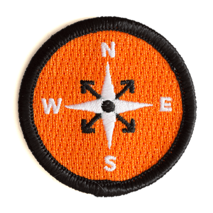 These Are Things - Compass Embroidered Iron-On Patch
