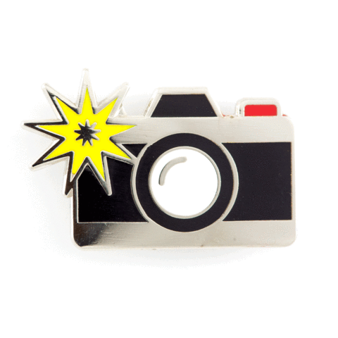 These Are Things - Camera Flash Enamel Pin