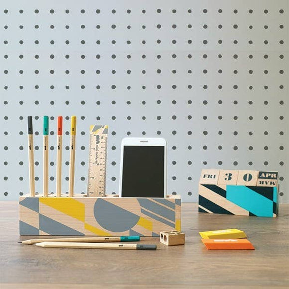 Portico Designs US Inc - Mini Moderns - Wooden Desk Organizer