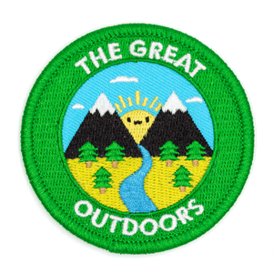 These Are Things - The Great Outdoors Embroidered Iron-On Patch