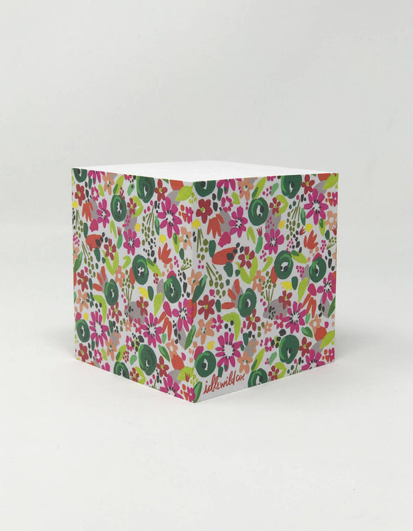 Idlewild - Confetti Floral Sticky Note Cube