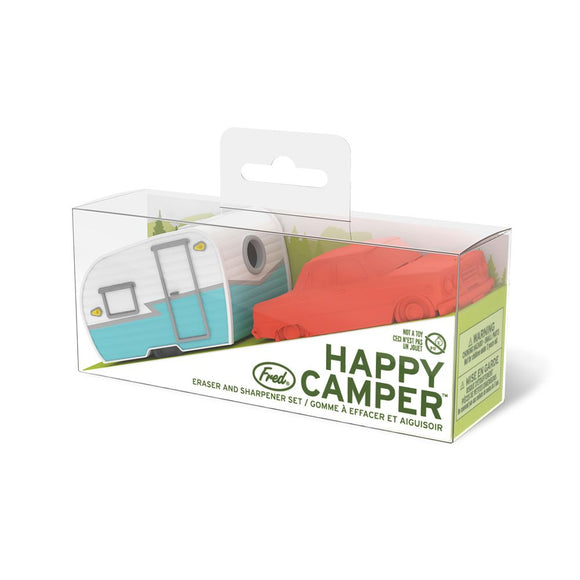 Fred - Happy Camper - Eraser + Sharpener