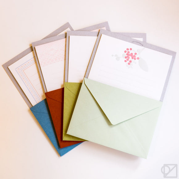 Japanese Letterpress Letter Set