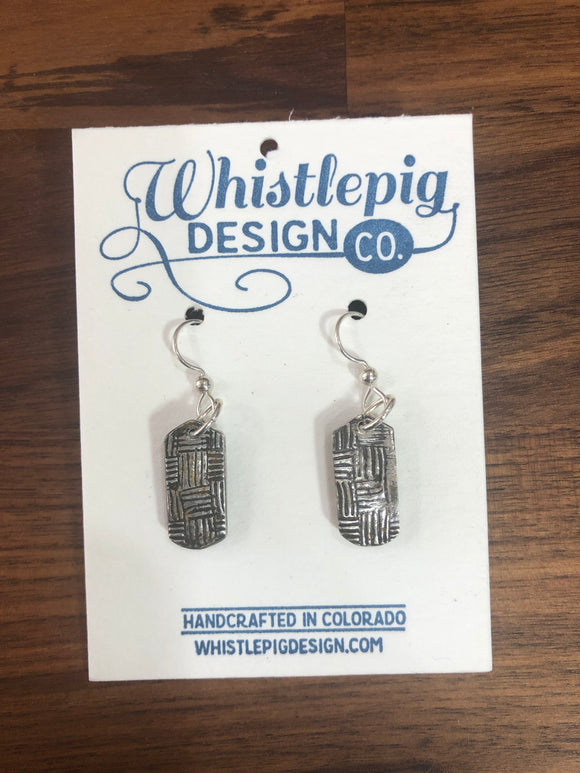 Paisley Fine Silver Earrings