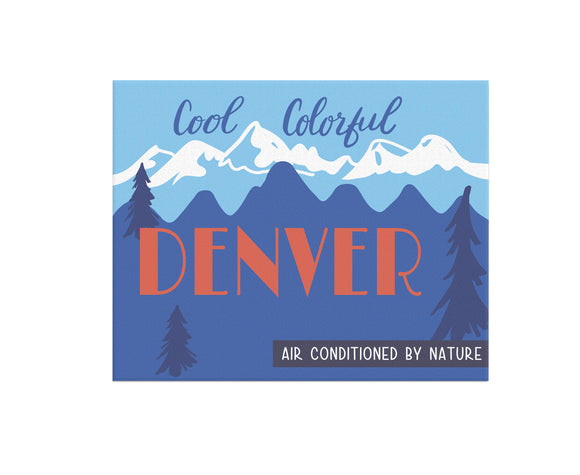Cool Colorful Denver Print