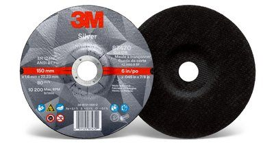 3M™ Silver Cut-Off Wheel | 6 inch x .045 in x 7/8 in T27 | 50 per box