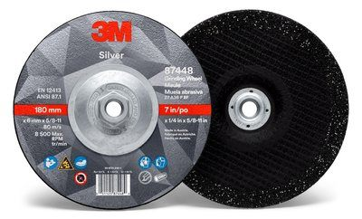 3M™ Silver Grinding Wheel | 7 inch x 1/4 in x 5/8-11 in | 20 per box