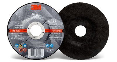 3M™ Silver Cut-Off Wheel | 4 1/2 inch x .045 in x 7/8 in T27 | 50 per box