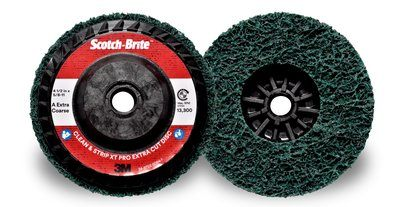 Scotch-Brite™ Clean and Strip XT Pro | Extra Cut Disc | 4-1/2 in x 5/8 in-11 AXCS | T27 Quick Change, 10 per box