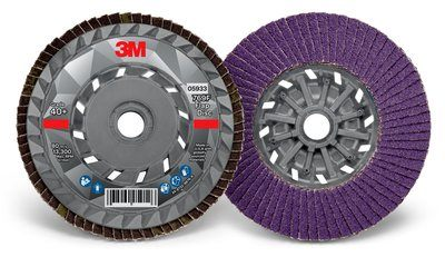 3M™ Flap Disc 769F | 4 1/2 inch x 5/8-11 | T27 Quick Change | 10 per case (Various Grits)