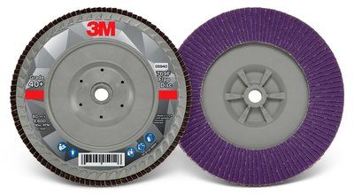 3M™ Flap Disc 769F | 7 inch x 5/8-11 40 grit | T27 Quick Change 5 per box