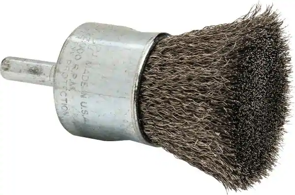 *CLOSEOUT* Weiler 10021 | 1 inch Wire End Brush, 1/4 in shank (each)