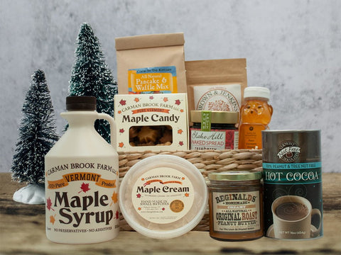 Maple Family gift basket with lots of treats for the entire family.