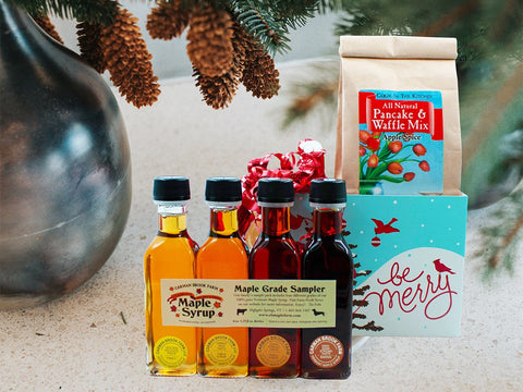 Send a gift with four grades of maple syrup from Vermont.