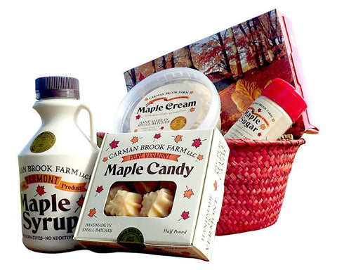 Gift basket of sweet goodies for her or him on Valentine's Day.