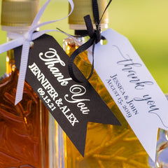 You need to add a hang tag to your wedding favor because it thanks your guests for attending.