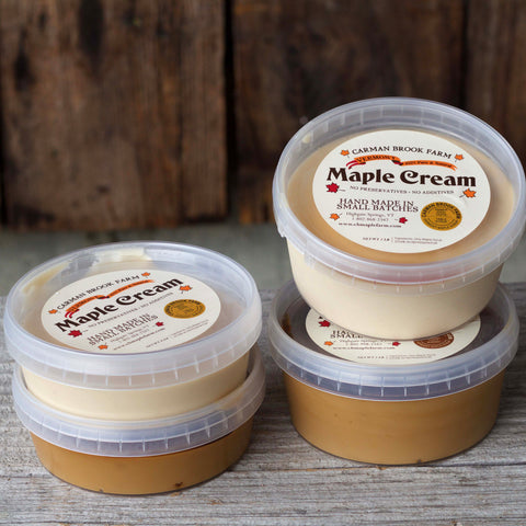 mixed cream assortment of half and full pound containers