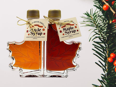 One of our best maple gifts is the split glass leaves in two grades.