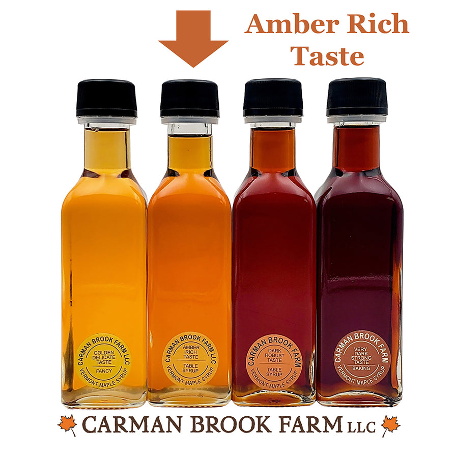 This is the Amber Rich Taste maple syrup grade that you can select for this gift set.