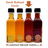 This gift set allows you to select Dark Robust Taste maple syrup grade for the half gallon.