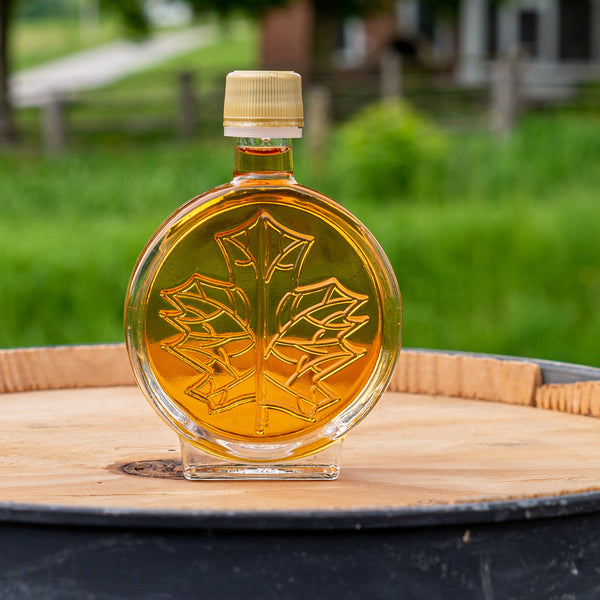 glass nip bottles of vermont maple syrup