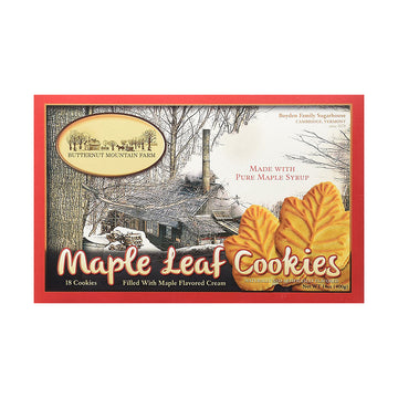 Maple Leaf Cream Cookies