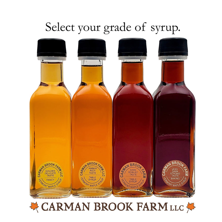 Select your favorite grade of maple syrup.