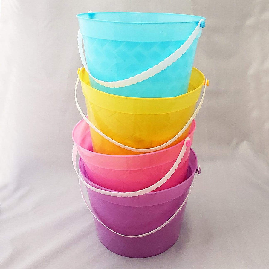 Our easter baskets are in 4 colors, you pick the one you want; blue, yellow, pink or purple.