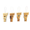 Set of four seasons Vermont wooden ornaments.
