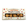 Maple candy leaves made in a dark robust flavor in a one pound container.