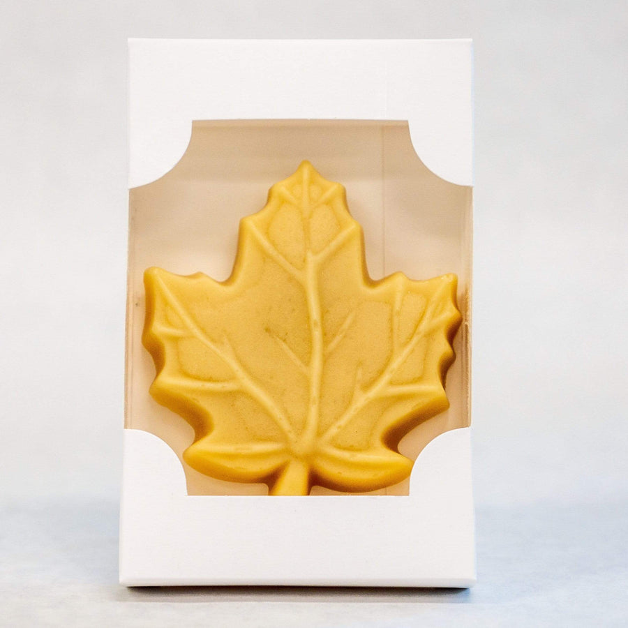 Vermont maple leaf candy in golden delicate taste.
