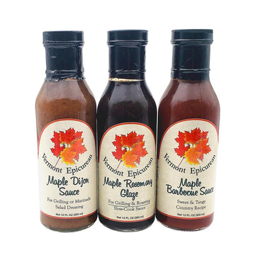 Vermont Epicurean sauce and glazes in three flavors.