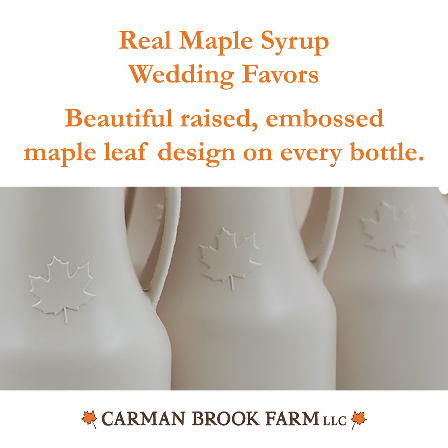 Slender Maple Syrup Jug Bulk Wedding Favors (25)