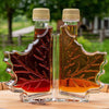 glass leaf bottles in two grades of vermont maple syrup gifts
