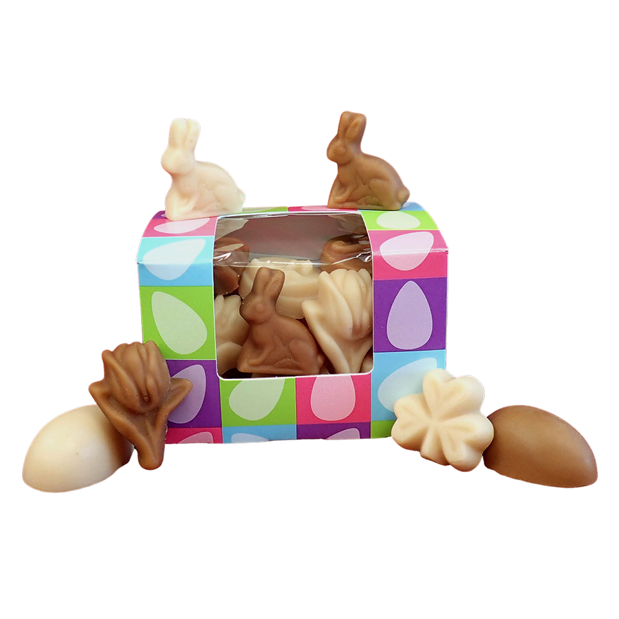 A mixed maple flavor box of maple Easter candy.