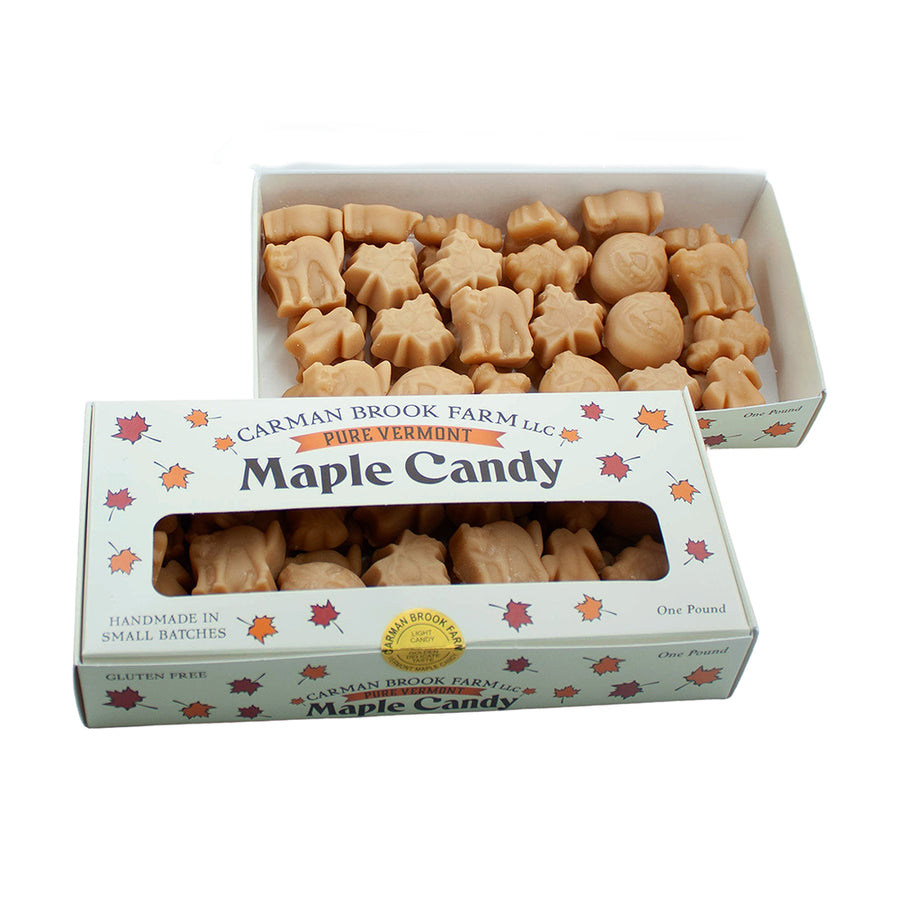 Maple candy pound box of halloween shapes.