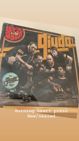 "Giuda ‎– Let's Do It Again 12"" LP (CLEAR) (New/Sealed) w/ poster"
