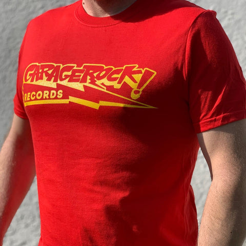 GARAGEROCK! BOLT logo T-Shirt ( RED, YELLOW, or BLACK )