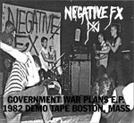 "NEGATIVE FX Government War Plans E.P. (Vinyl, 7"", EP, 45 RPM, LIM ED."