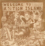 "V/A ‎– Welcome To Ax/ction Island 7"" comp. GG ALLIN"