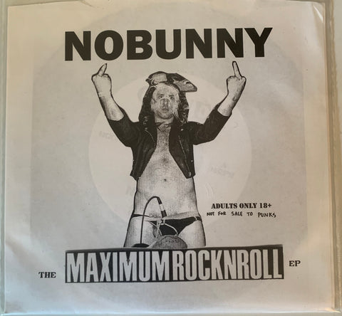 "NOBUNNY ""the Maximumrocknroll EP"" 7"" record. Goner records. RSD Exclusive NEW"