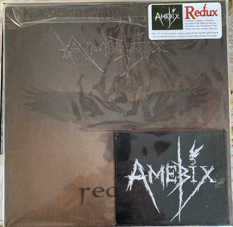 "AMEBIX- ""Redux"" 12"" EP new/sealed with embroidered patch."