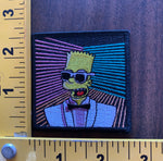 Max Bart Headroom embroidered patch Simpsons NOS